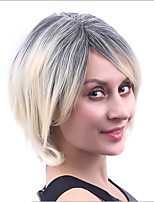 Capless Fashion Black Ombre Blonde Heat Resistant Synthetic Wig