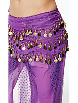 Belly Dance Hip Scarves Women's Performance Sequin Chiffon Belt Beading Sequin Paillettes 1 Piece Hip Scarf