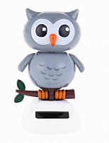 Creative Solar Automatic Swinging Owl Decoration For Office Desktop 1PC