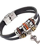 Муж. Кожаные браслеты Бижутерия Природа Мода Хрусталь Кожа Сплав Бижутерия Назначение Особые случаи
