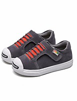 Girls' Flats First Walkers Leatherette Spring Fall Outdoor Casual Walking Magic Tape Low Heel Red Gray Black Flat