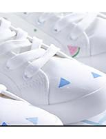 Femme Baskets Polyuréthane Printemps Blanc Plat