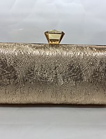 Women Evening Bag PU All Seasons Formal Event/Party Baguette Push Lock Coffee Silver Black Gold Champagne