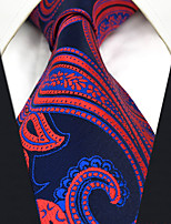 CXL12 New Extra Long For Mens Neckties Classic Blue Red Abstract 100% Silk Fashion Dress Handmade