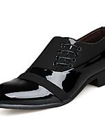 Для мужчин Туфли на шнуровке Полиуретан Весна Лето На низком каблуке Черный Менее 2,5 см