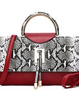 Damen Umhängetasche PU Ganzjährig Baguette Bag Magnetisch Blau Weiß Schwarz Rot