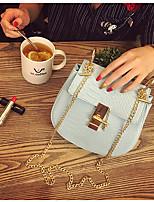 Для женщин Сумка-шоппер Полиуретан Все сезоны Для профессионального использования Сумочка Багет Молния Синий Белый Розовый