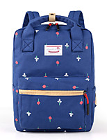 Women Backpack Canvas All Seasons Sports Outdoor Shopping Bucket Ruffles Zipper Azure Navy Blue Beige Blushing Pink Black