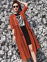 レディース アスレイジャー 夏 シャツ ドレス スーツ,クラシック・タイムレス Uネック ソリッド 五分袖