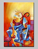 Ручная роспись Люди Вертикальная,Modern Классика 1 панель Холст Hang-роспись маслом For Украшение дома