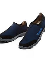 Для мужчин Мокасины и Свитер Удобная обувь Ткань Весна Осень Повседневный На плоской подошве Черный Темно-синий Серый 2,5 - 4,5 см