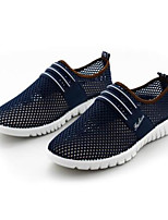 Men's Sneakers Tulle Spring Gray Coffee Blue Flat