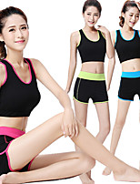 Fengtu Yoga Clothes 2 Sets Of Summer Short Sleeved Sports Shorts Vest Bra Fit Suit Women's Fitness Yoga Shorts Vest