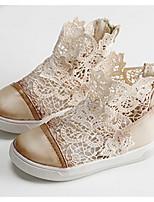 Девочки На плокой подошве Обувь для малышей Тюль Весна Осень Повседневные Для прогулок Обувь для малышей На липучках На низком каблуке