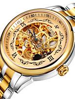 Муж. Модные часы Механические часы С автоподзаводом Защита от влаги сплав Кожа Группа Черный Коричневый Золотистый