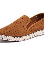 Men's Sneakers Comfort Suede Summer Fall Casual Comfort Flat Heel Light Brown Light Grey Dark Blue 1in-1 3/4in