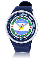 Homens Relógio Esportivo Digital Impermeável Borracha Banda Azul Laranja Amarelo