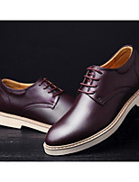 Men's Sneakers Comfort Real Leather Cowhide Spring Casual Black Dark Brown Light Brown Flat