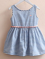 Baby Stripe Vest Skirt 2017 Korean Style Girls Children's Wear Children's Summer Wear New Dress