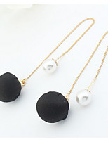 Korean Style Fashion Simple Pearl  Ball Earrings  Women's Casual  Drop Earrings  Movie Jewelry