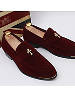 Для мужчин Кеды Удобная обувь Замша Весна Повседневный Черный Морской синий Красный На плоской подошве