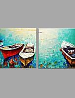 Handgemalte LandschaftAbstrakt Modern/Zeitgenössisch Ländlich Zwei Panele Leinwand Hang-Ölgemälde For Haus Dekoration