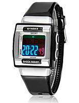 Жен. Модные часы Цифровой силиконовый Группа Черный Белый Синий Зеленый Розовый