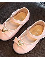 Girls' Flats First Walkers PU Spring Fall Casual Walking First Walkers Magic Tape Low Heel Blushing Pink Flat