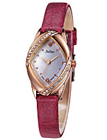 Women's Fashion Watch Japanese Quartz Water Resistant / Water Proof Leather Band Casual Black White Red Brown Pink