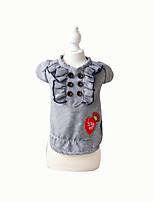Chien Tee-shirt Vêtements pour Chien Mignon Décontracté / Quotidien Tartan Café Rouge Noir