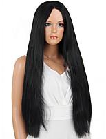 MAYSU Enchanting   Black Long Hair  Comfortable Front lace  Synthetic Wig  Hot sale