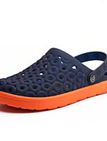 Men's Slippers & Flip-Flops Slingback PVC Summer Casual Flat Heel Blue Flat
