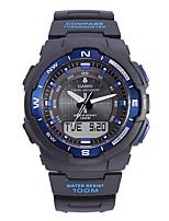 Casio Hombre Reloj Deportivo Reloj de Moda Reloj de Pulsera Japonés Cuarzo Calendario Resistente al Agua Cronómetro Esfera Grande Caucho