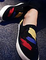 Для мужчин Кеды Удобная обувь Тюль Полиуретан Весна Повседневный Черный Морской синий Красный На плоской подошве