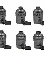 E26 / e27 световая розетка 6 шт. Патрон для металлической оболочки для замены ламп или светильников винтажный промышленный стиль diy