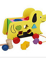 Educational Toy Pegged Puzzles For Gift  Building Blocks Dog Wood 2 to 4 Years 5 to 7 Years Toys