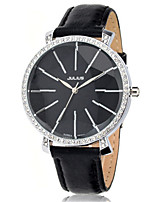 Women's Fashion Watch Japanese Quartz Water Resistant / Water Proof Leather Band Black White Brown Pink