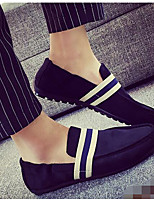 Men's Loafers & Slip-Ons Canvas Spring Black Navy Blue Ruby Flat