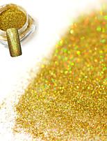 0.2g/bottle Fashion Gorgeous Laser Gold Shining Decoration Nail Art Glitter Holographic Fine Powder DIY Charm Shining Pigment JX02