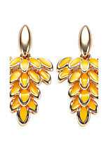 Women's Drop Earrings Bohemian Arylic Alloy Leaf Jewelry For Party Daily Casual Stage 1 pair