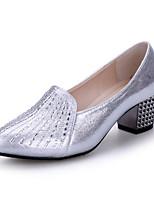 Keine Maßfertigung möglich Damen Modern Kunstleder Absätze Sneakers Im Freien Kristallsteine Glitter Blockabsatz Gold Schwarz Silber5 -