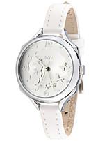 Женские Модные часы Кварцевый Кожа Группа Белый Розовый
