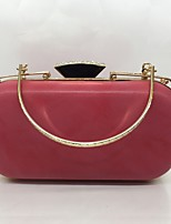 Women Evening Bag PU All Seasons Formal Event/Party Minaudiere Push Lock Violet Pink Gray Apricot Ruby Black