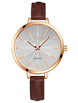 Women's Fashion Watch Quartz PU Band Blue Red Brown Pink