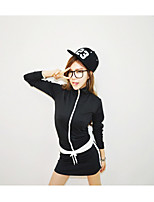 Women's Going out Casual/Daily Sexy Shirt Dress Suits,Solid Round Neck Long Sleeve