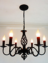 Chandelier ,  Artistic Chic & Modern Others Feature for Candle Style Metal Living Room Indoors Dining Room 6 Bulbs