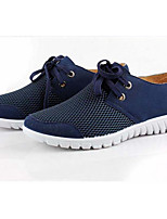 Men's Sneakers Comfort Breathable Mesh Tulle Spring Casual Gray Blue Camel Flat