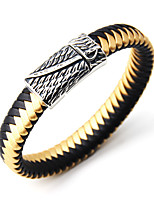 Men's Bangles Jewelry Fashion Punk Leather Alloy Round Jewelry For Special Occasion Sports 1pc