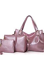 Donna sacchetto regola PU (Poliuretano) Per tutte le stagioni Cerniera Blu Nero Rosso Rosa