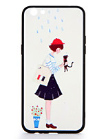 For oppo r9s r9s plus case cover pattern задняя крышка чехол gril cat cartoon hard pc r9 r9 plus